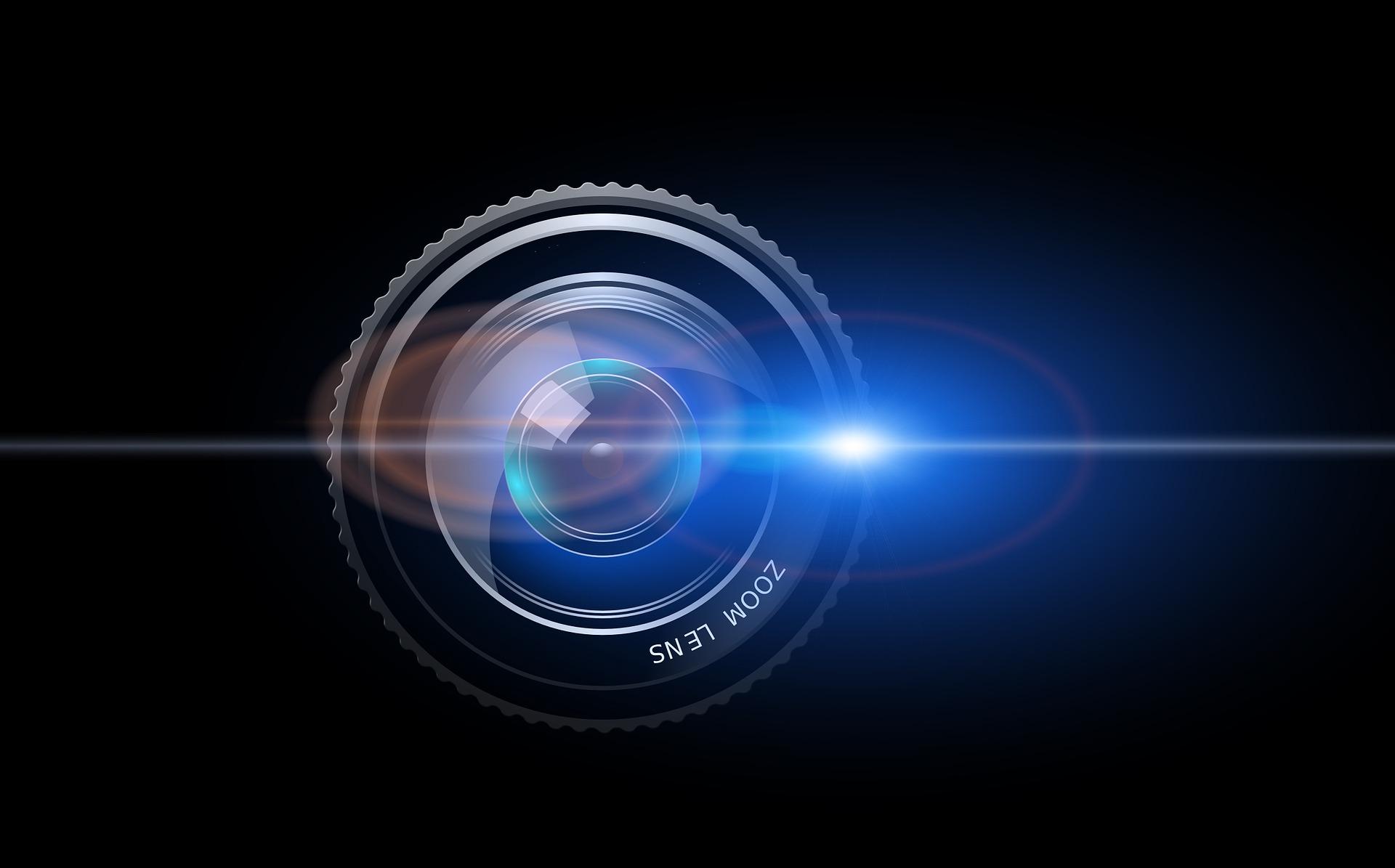 Zoom Lens - Objektiv mit Reflektionen