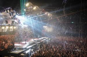 Rockkonzert mit Lightshow