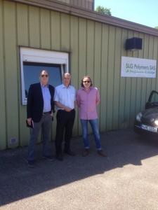 Heinrich Hess mit Partnern bei SLG Polymers SAS in Frankreich