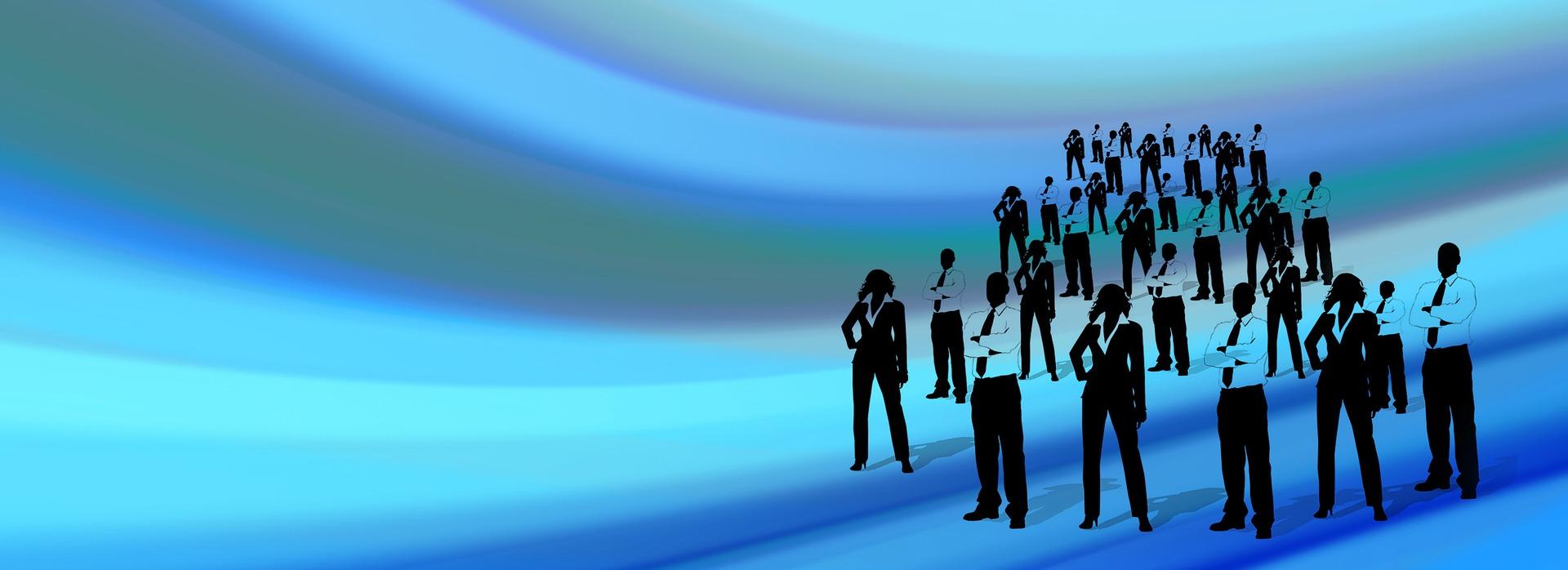 Gruppe von Managern - Schemenhaft