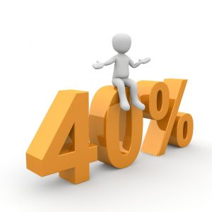 40% - Rabatt